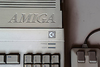 Commodore Amiga 500, vecchio home computer di fine anni 80 / inizio 90 --- Commodore Amiga 500, old home computer from the late 80's to early 90's