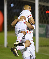 TUNJA -COLOMBIA, 20-11-2016. Diego Alvarez jugador de Patriotas FC celebra su gol contra el Boyaca Chicó  durante encuentro  por la fecha 20 de la Liga Aguila II 2016 disputado en el estadio de  La Independencia./ Diego Alvarez player of Patriotas FC celebrates his goal against during match Boyaca Chico for the date 20 of the Aguila League II 2016 played at La Independencia  stadium . Photo:VizzorImage / César Melgarejo   / Cont