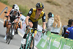 Steven Kruijswijk (NED) LottoNL-Jumbo on the final climb near the end of Stage 20 of the La Vuelta 2018, running 97.3km from Andorra Escaldes-Engordany to Coll de la Gallina, Spain. 15th September 2018.                   <br /> Picture: Colin Flockton | Cyclefile<br /> <br /> <br /> All photos usage must carry mandatory copyright credit (© Cyclefile | Colin Flockton)