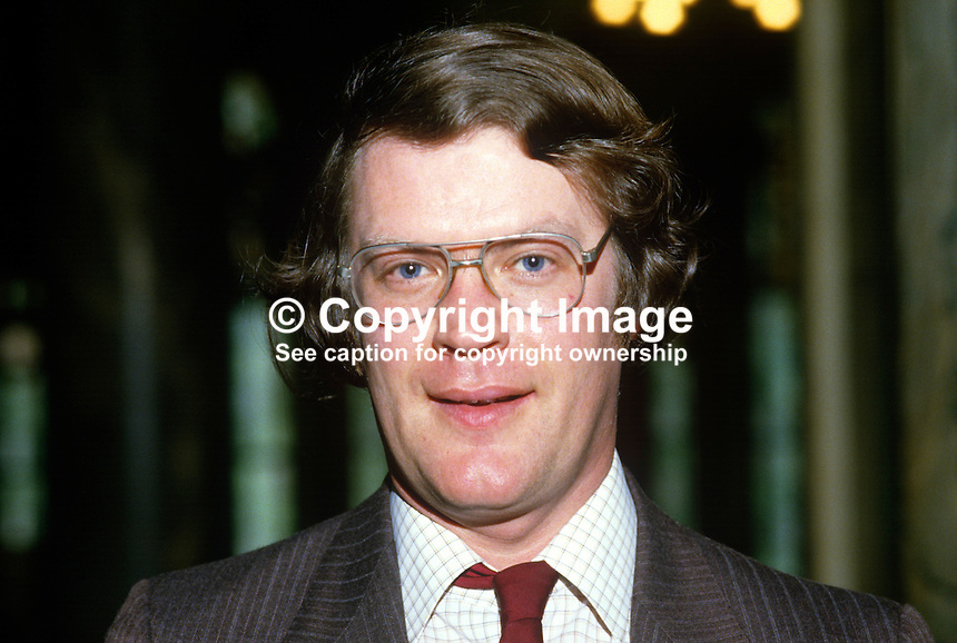 Mervyn Jones, councillor, Alliance Party of N Ireland, UK, 19850512MJ1..Copyright Image from Victor Patterson, 54 Dorchester Park, Belfast, UK, BT9 6RJ..Tel: +44 28 9066 1296.Mob: +44 7802 353836.Voicemail +44 20 8816 7153.Skype: victorpattersonbelfast.Email: victorpatterson@me.com.Email: victorpatterson@ireland.com (back-up)..IMPORTANT: If you wish to use this image or any other of my images please go to www.victorpatterson.com and click on the Terms & Conditions. Then contact me by email or phone with the reference number(s) of the image(s) concerned.
