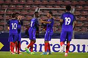 June 8th 2017, Créteil, France, U-21 International football friendly, France versus Cameroon;  Yann Karamoh (fra)celebrates with Olivier Ntcham (fra)