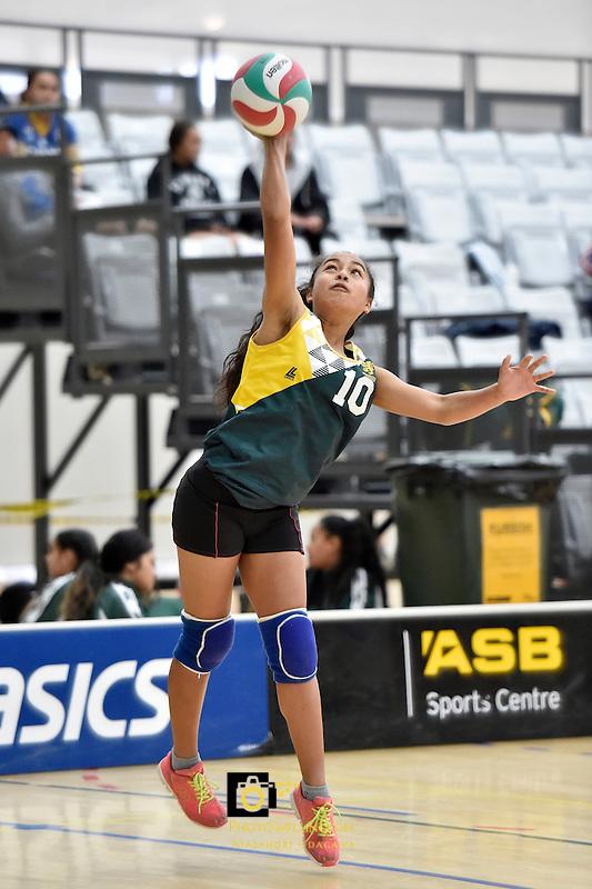 Action from the Volleyball NZ North Island Junior Championships at ASB Sports Centre, Kilbirnie, Wellington, New Zealand on Thursday 27 November 2014.<br /> Photo by Masanori Udagawa. <br /> www.photowellington.photoshelter.com.