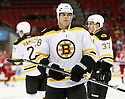 Boston Bruins Nathan Horton (18) during a game against the Carolina Hurricanes on January 28, 2013 at PNC Arena in Charlotte, NC. The Bruins beat the Hurricanes 5-3.