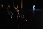 Dancers and staff of the Bolshoi Ballet looked on from the wings during a performance of Massine's Les Presages at the Bolshoi Theatre's New Stage in Moscow, Russia, January 25, 2007