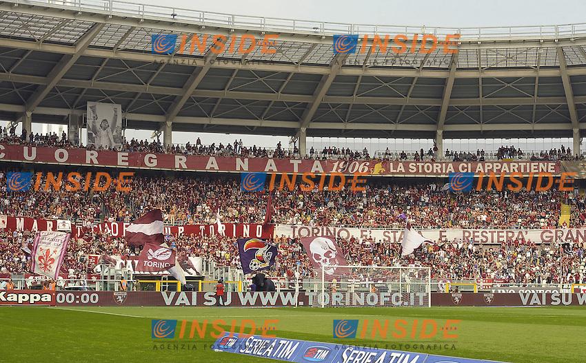 La curva Maratona dei tifosi del Toro,<br /> Torino 28-09-2014, Stadio Olimpico, Football Calcio 2014/2015 Serie A, Torino-Fiorentina, Foto Filippo Alfero/Insidefoto