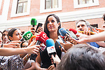 Vice Mayor of Madrid Begoña Villacis attends to the media before a visit to family support center . August 21, 2019. (ALTERPHOTOS/Francis González)