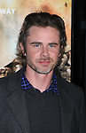 """LOS ANGELES, CA. - February 24: Sam Trammell arrives to HBO's premiere of """"The Pacific"""" at Grauman's Chinese Theatre on February 24, 2010 in Los Angeles, California."""