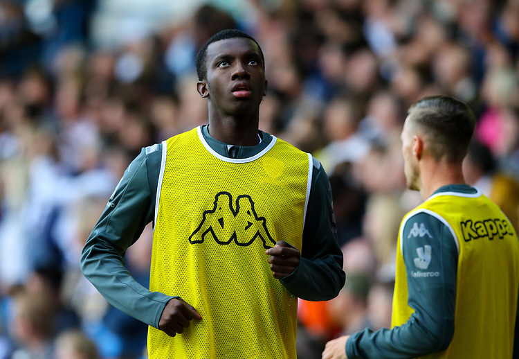 Leeds United's Eddie Nketiah warms up<br /> <br /> Photographer Alex Dodd/CameraSport<br /> <br /> The EFL Sky Bet Championship - Leeds United v Swansea City - Saturday 31st August 2019 - Elland Road - Leeds<br /> <br /> World Copyright © 2019 CameraSport. All rights reserved. 43 Linden Ave. Countesthorpe. Leicester. England. LE8 5PG - Tel: +44 (0) 116 277 4147 - admin@camerasport.com - www.camerasport.com