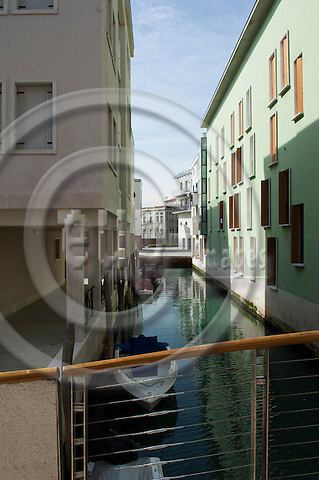 Venice-Italy - March 29, 2010 -- Housing projects on Giudecca -- architecture -- Photo: Horst Wagner / eup-images