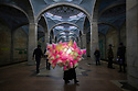 Uzbekistan - Tashkent - A cotton candy seller stands in the metro station. Tashkent metro was built in 1972 after a major earthquake and each station could serve as a nuclear shelter.