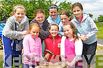 Having fun at the Faha NS sports day in the Listry GAA grounds on Sunday was front row l-r: Roisin Cliiford, Ciara O'Donoghue, Aine O'Shea. Back row: Megan O'Connor, Ciara O'Sullivan, Orla Courtney, Eva Wilkins and Aileen O'Leary   Copyright Kerry's Eye 2008