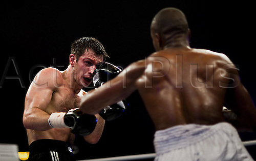 01 01 2010  Igor Michalkin RUS Doudou  FRA boxing Light Heavyweight 8 Rounds Universe Champions Night ZDF boxing.