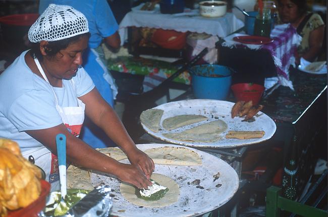 Food Preparation, Oaxaca City, Oaxaca, Mexico