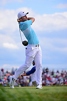 Russell Henley (USA) watches his tee shot on 7 during Sunday's round 4 of the 117th U.S. Open, at Erin Hills, Erin, Wisconsin. 6/18/2017.<br /> Picture: Golffile | Ken Murray<br /> <br /> <br /> All photo usage must carry mandatory copyright credit (&copy; Golffile | Ken Murray)