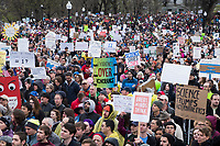 People gather in Boston Common in Boston, Massachusetts, for  the March for Science demonstration on Sat., April 22, 2017.
