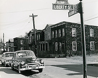 1966 October 21..Historical..Looking down Alleghany Street from corner of Liberty Street and Alleghany Street..Sam McKay.NEG# SLM66-9-18.NRHA# 4221..
