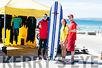 l-r  Donal Tobin, Shifra Daly and Darragh Hartnett. from Shorebreak Surf School on the Hottest Day of the Year at Banna Beach