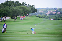 David Hearn (CAN) hits his approach shot on 18 during round 1 of the Valero Texas Open, AT&amp;T Oaks Course, TPC San Antonio, San Antonio, Texas, USA. 4/20/2017.<br /> Picture: Golffile | Ken Murray<br /> <br /> <br /> All photo usage must carry mandatory copyright credit (&copy; Golffile | Ken Murray)