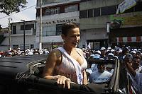 Niurka en el desfile del 1ero de Mayo en Xalapa, Veracruz.<br /> *Photo:&copy;/Ra&uacute;lM&eacute;ndez/NortePhoto*