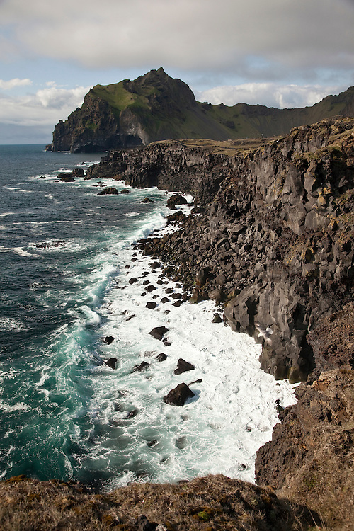 Heimaey has dramatic  cliffs and coastline on the west side with the largest puffin colony in the world.
