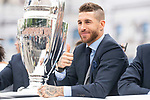 Real Madrid Sergio Ramos during the celebration of the Thirteen Champions League at Cibeles Fountain in Madrid, Spain. May 27, 2018. (ALTERPHOTOS/Borja B.Hojas)