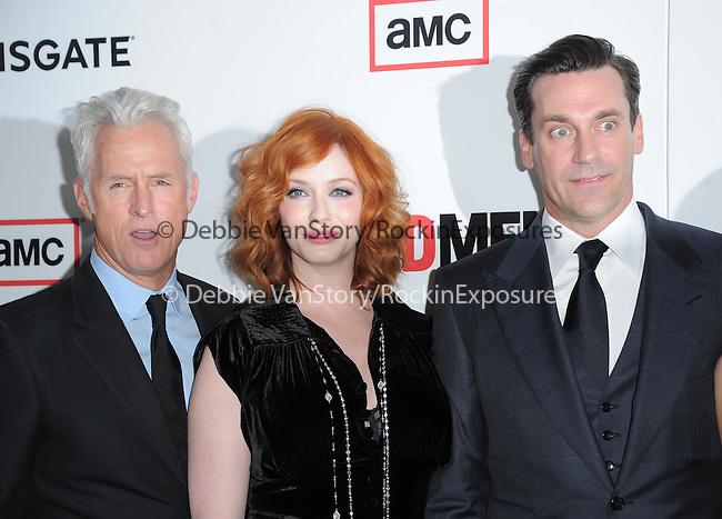 John Slattery ,Christina Hendricks, Jon Hamm  at The AMC Premiere of The 6th Season Of Mad Men held at The DGA in West Hollywood, California on March 20,2013                                                                   Copyright 2013 Hollywood Press Agency