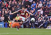 22/04/2016 Sky Bet Championship Preston North End v Burnley<br /> Joey Barton scores Burnley's goal