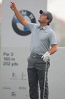 Francesco Molinari (ITA) on the 6th tee during Saturay's Round 3 of the 2014 BMW Masters held at Lake Malaren, Shanghai, China. 1st November 2014.<br /> Picture: Eoin Clarke www.golffile.ie