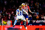David Zurutuza Veillet of Real Sociedad (L) fights for the ball with Santiago Arias of Atletico de Madrid (R) during the La Liga 2018-19 match between Atletico de Madrid and Real Sociedad at Wanda Metropolitano on October 27 2018 in Madrid, Spain.  Photo by Diego Souto / Power Sport Images