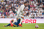 Real Madrid's player Alvaro Morata during a match of La Liga Santander at Santiago Bernabeu Stadium in Madrid. August 27, Spain. 2016. (ALTERPHOTOS/BorjaB.Hojas)
