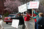 About 100 people participated in the Tea Party rally on Friday, April 15, 2011, at the Legislature in Carson City, Nev. .Photo by Cathleen Allison