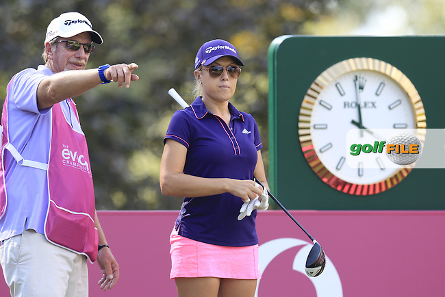Natalie Gulbis (USA) prepares to tee off the 13th tee during Thursday's Round 1 of the LPGA 2015 Evian Championship, held at the Evian Resort Golf Club, Evian les Bains, France. 10/09/2015.<br /> Picture Eoin Clarke | Golffile