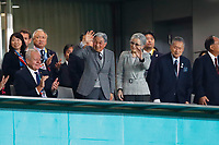 1st November 2019, Tokyo, Japan;   Japan's former emperor Akihito and empress Michiko attend the match;  2019 Rugby World Cup 3rd place match between New Zealand 40-17 Wales at Tokyo Stadium in Tokyo, Japan.  - Editorial Use