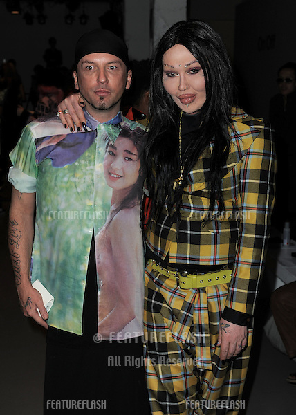 Pete Burns at The Pam Hogg Show, London Fashion Week. 19/09/2010  Picture by: Simon Burchell / Featureflash