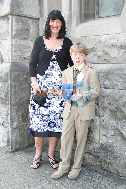Daire O'Brien with Jacqueline O'Brien at the St. Marys Congress Avenue Communion in St. Marys Church...Photo NEWSFILE/Jenny Matthews.(Photo credit should read Jenny Matthews/NEWSFILE)....This Picture has been sent you under the condtions enclosed by:.Newsfile Ltd..The Studio,.Millmount Abbey,.Drogheda,.Co Meath..Ireland..Tel: +353(0)41-9871240.Fax: +353(0)41-9871260.GSM: +353(0)86-2500958.email: pictures@newsfile.ie.www.newsfile.ie.FTP: 193.120.102.198.