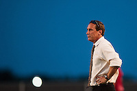 Sky Blue FC head coach Jim Gabarra. Sky Blue FC defeated the Washington Spirit 1-0 during a National Women's Soccer League (NWSL) match at Yurcak Field in Piscataway, NJ, on July 6, 2013.