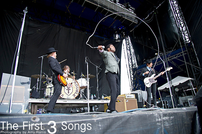 Ty Taylor of Vintage Trouble performs during the The Beale Street Music Festival in Memphis, Tennessee.