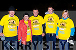 George Hegarty, Josie Nolan, John Denis and Mairead Sheahan Killarney at the Killarney Darkness into Light walk at Killarney Racecourse Saturday morning