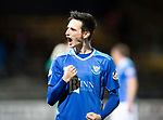 Dundee v St Johnstone&hellip;29.12.18&hellip;   Dens Park    SPFL<br />Scott Tanser celebrates with the fans at full time<br />Picture by Graeme Hart. <br />Copyright Perthshire Picture Agency<br />Tel: 01738 623350  Mobile: 07990 594431