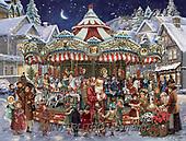 Interlitho-Simonetta, CHRISTMAS SANTA, SNOWMAN, WEIHNACHTSMÄNNER, SCHNEEMÄNNER, PAPÁ NOEL, MUÑECOS DE NIEVE, paintings+++++,carousel,KL6114,#X# ,puzzle ,victorian,retro