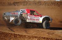 Apr 16, 2011; Surprise, AZ USA; LOORRS driver Rodrigo Ampudia (36) during round 3 at Speedworld Off Road Park. Mandatory Credit: Mark J. Rebilas-