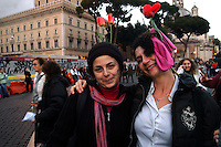 Roma 24 Novembre 2007.Manifestazione  nazionale delle donne per le donne contro la violenza maschile .Rome November 24, 2007.National demonstration of women for women against male violence.