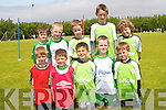 Improving their soccer skills at the FAI summer soccer school in Mastergeeha, Killarney. <br />Front L-R Oisin Fleming, Odhran O'Shea, Mark and Gavin Cronin and Kieran Nagle.