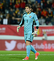 20171020 - LEUVEN , BELGIUM : Romanian Andreea Paraluta pictured during the female soccer game between the Belgian Red Flames and Romania , the second game in the qualificaton for the World Championship qualification round in group 6 for France 2019, Friday 20 th October 2017 at OHL Stadion Den Dreef in Leuven , Belgium. PHOTO SPORTPIX.BE | DAVID CATRY
