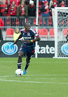 21 April 2012: Chicago Fire forward Dominic Oduro #8 in action during a game between the Chicago Fire and Toronto FC at BMO Field in Toronto..The Chicago Fire won 3-2....