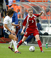 Canada's Melanie Booth , USWNT vs Canada April 26, 2003.