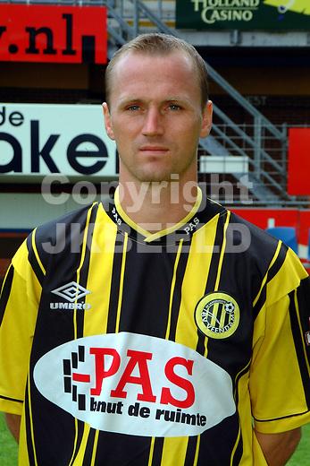 Veendam speler Martin Reynders.seizoen 2001-2002