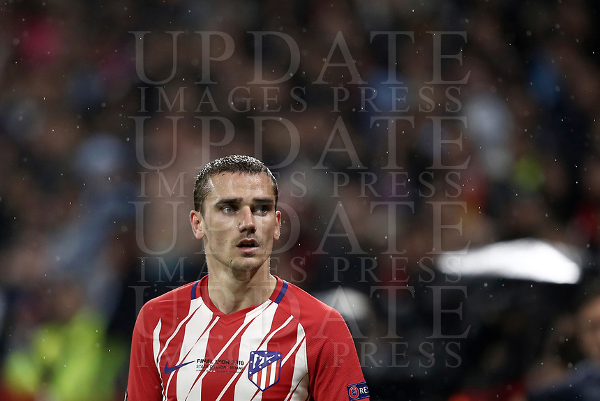 Club Atletico de Madrid's Antoine Griezmann during the UEFA Europa League final football match between Olympique de Marseille and Club Atletico de Madrid at the Groupama Stadium in Decines-Charpieu, near Lyon, France, May 16, 2018.<br /> UPDATE IMAGES PRESS/Isabella Bonotto