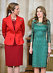 Princess Elena and Princess Letizia receive International Olympic Committee Evaluation Commission Team for a dinner at the Royal Palace.March 20,2013. (ALTERPHOTOS/Pool)
