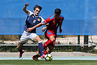 Kyle MaGennis of Scotland tackles Matej Chalus of Czech Republic during Czech Republic Under-20 vs Scotland Under-20, Toulon Tournament Football at Stade de Lattre-de-Tassigny on 10th June 2017